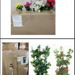 Lot de fleurs artificielles